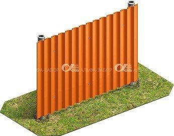 4 - Забор из профнастила