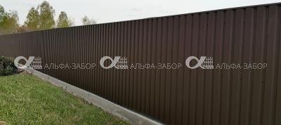 7 - Забор из профнастила