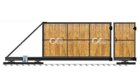 derevo shema s otdelnoy kalitkoy 1 storona min 0 - Откатные ворота своими руками | Монтаж и установка. Фото, схемы.