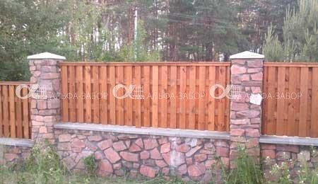 Деревянный забор купить
