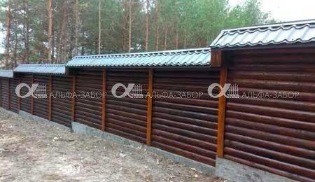 Деревянный забор недорого