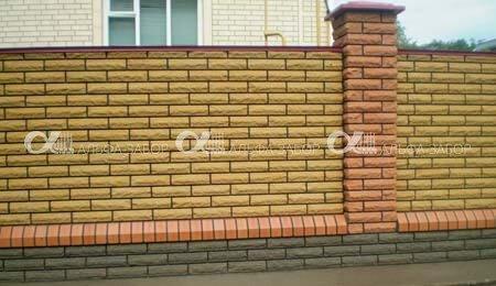заказать кирпичный забор