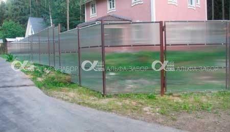 поликарбонатовый забор