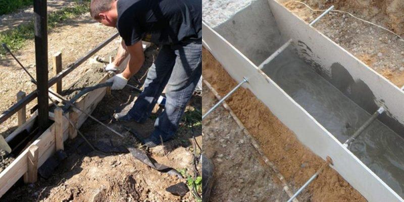vidu opalybki dlya zabora 800x400 - Фундамент под забор | Как сделать опалубку для забора